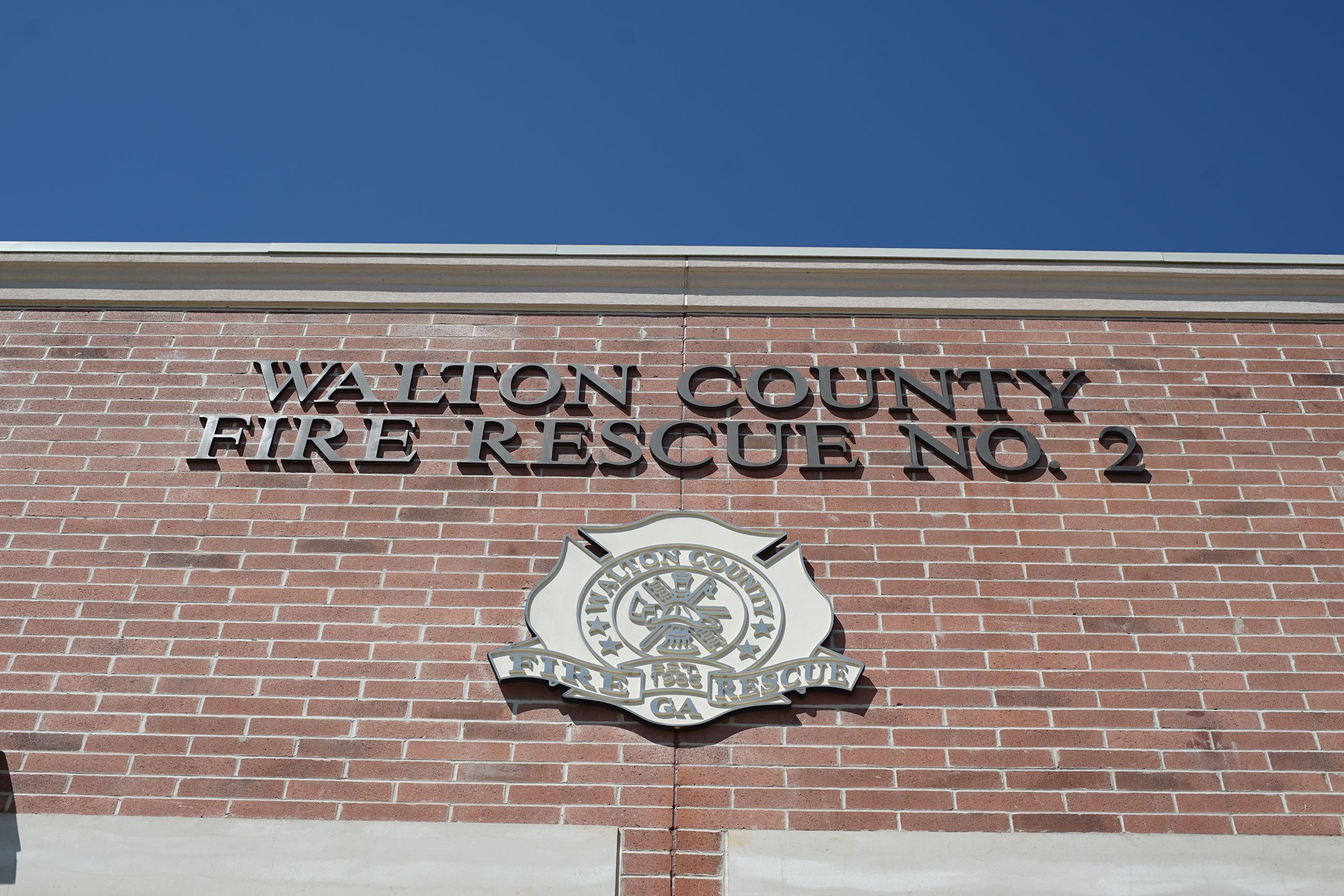 Walton County Fire House Number 2 close up of the emblem